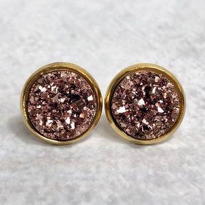 Olivia Rae Jewelry - Rose Gold Druzy Earrings